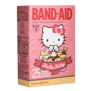 Curativo Band-Aid Hello Kitty c/ 25 Unidades