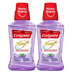 Kit 2x250mL Enxaguante Bucal Colgate Total 12 Anti-Tártaro