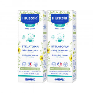 Kit 2x200mL Mustela Stelatopia Dermo-Pediatria Peles Secas