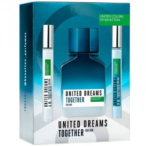 Kit Benetton United Dreams Together Him Perfume +2 Boosters